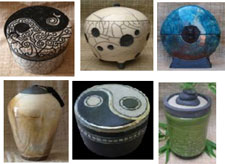 Ceramic cremation urns from Alternita
