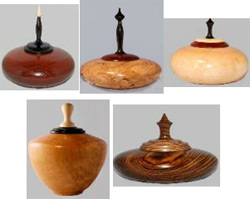 Wood cremation urns from Celebrative Art