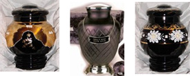 Glass and Porcelain Cremation Urns, Everlasting Memories