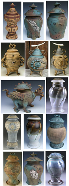 Cremation urns from Handmade Cremation Urns