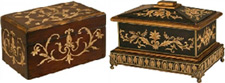 Antique cremation urns from Keepsakes and Memorials