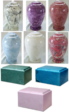 Marble cremation urns from Keepsakes and Memorials