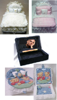 Personalized memorial box cremation urns from Keepsakes and Memorials