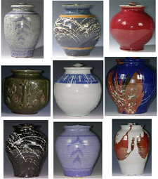 Mcdo Well Pottery, cremation urns