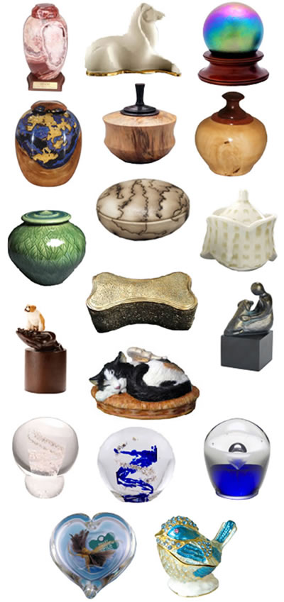 Pet Cremation Urns from Memorial Gallery Pets