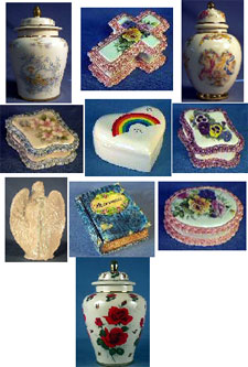 cremation urns from Nine Rainbows Urns