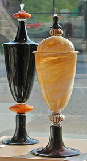 Obsidian Glass Works, signature cremation urns