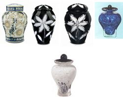 Quality Cremation, glass cremation urns