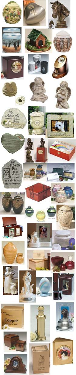 Pet cremation urns from Rainbow Bridge Urns