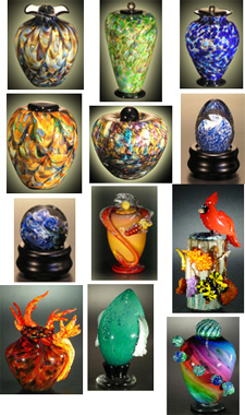 Glass Cremation Urns, Rogue Art Glass