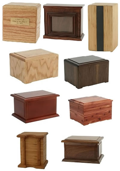 Hardwood Cremation Urns from Stardust Memorials