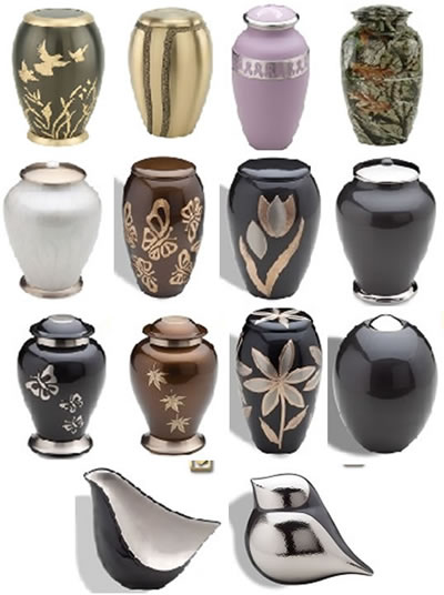 Metal and Brass Cremation Urns from Stardust Memorials