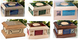 Military cremation urns from Heavenly Designs