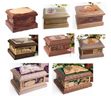 Cremation urns from Heavenly Designs