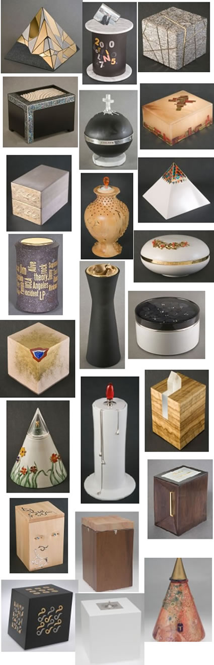 Homemade Cremation Urns, Urns Collection