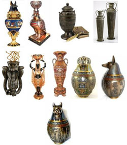 Egyptian cremation urns from Urns.Org