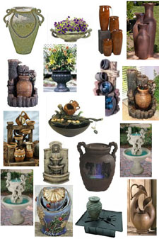 Fountain cremation urns from Urns.Org