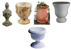 Grecian cremation urns from Urns.Org