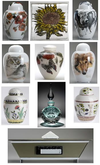 Cremation Urns, Urns for Ashes by Artists