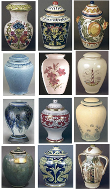Ceramic cremation urns from Urns Seller