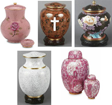 Cloisonne cremation urns from Urns Seller