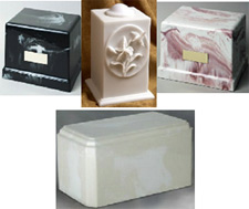Cultured marble cremation urns from Urns Seller