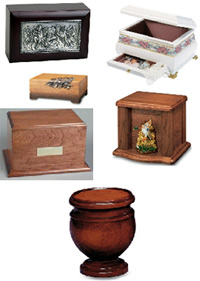 Hardwood cremation urns from Urns Seller