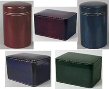 Leather cremation urns from Urns Seller