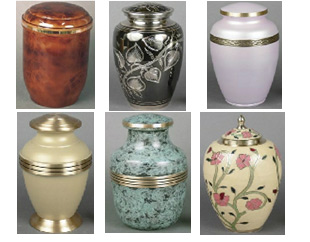 Metal cremation urns from Urns Seller