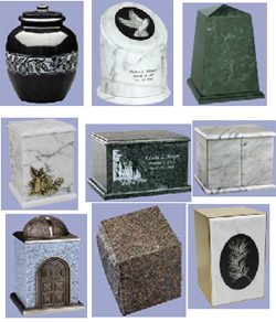 Your Loving Memorial, marble cremation urns