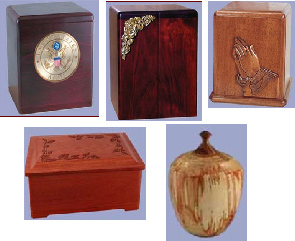 Your Loving Memorial, wood cremation urns